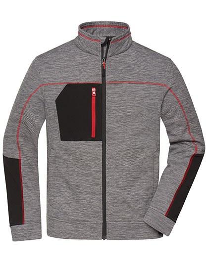 James+Nicholson - Men's Structure Fleece Jacket