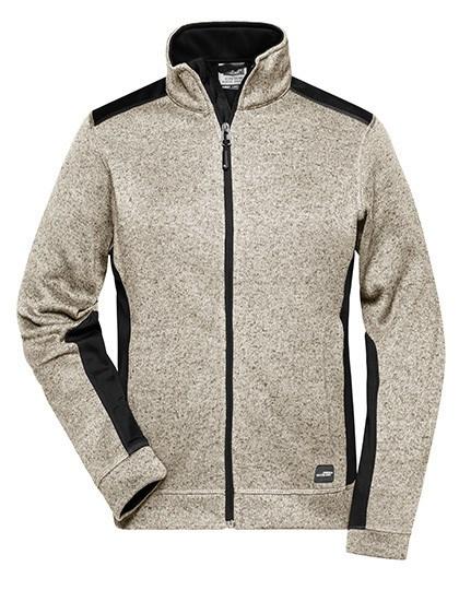 James+Nicholson - Ladies' Knitted Workwear Fleece Jacket -STRONG-