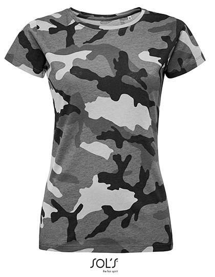 SOL´S - Women`s Camo T-Shirt