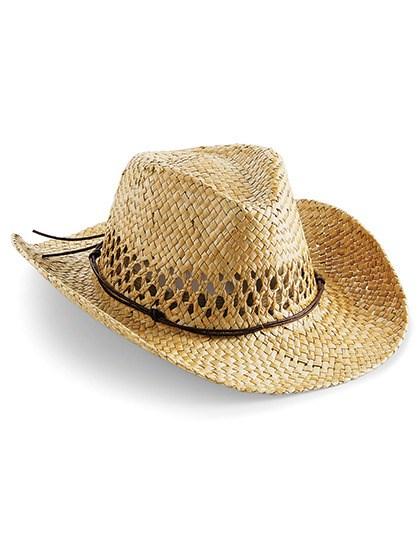 Beechfield - Straw Cowboy Hat