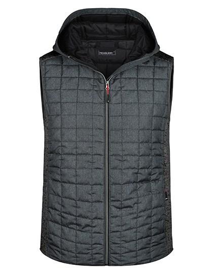James+Nicholson - Men's Knitted Hybrid Vest