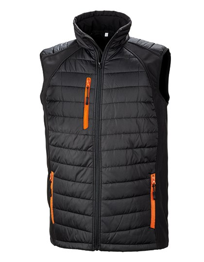 Result - Black Compass Padded Soft Shell Gilet