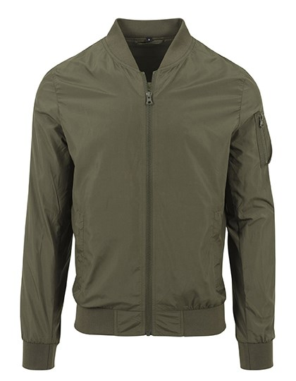 Build Your Brand - Nylon Bomber Jacket