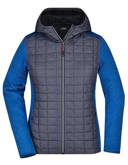 James+Nicholson - Ladies' Knitted Hybrid Jacket