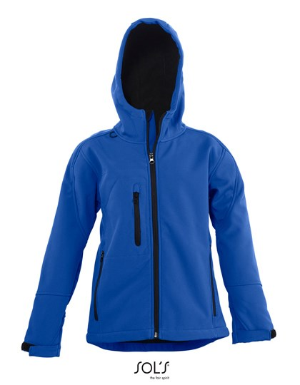 SOL´S - Kids` Hooded Softshell Jacket Replay