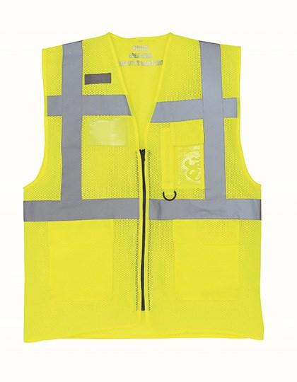 YOKO - Hi Vis Top Cool Recycled Open Mesh Executive Waistcoat