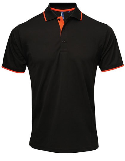 Premier Workwear - Men`s Contrast Coolchecker® Polo