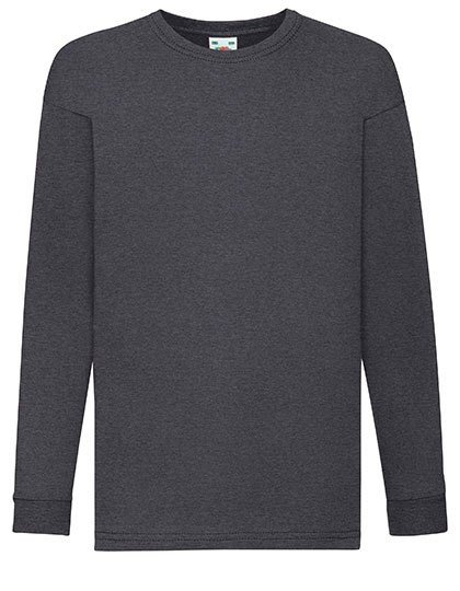 Fruit of the Loom - Kids Valueweight Long Sleeve T