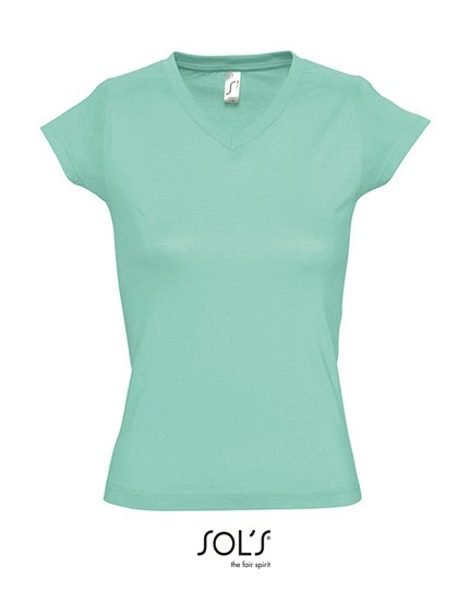 SOL´S - Ladies` V-Neck-T-Shirt Moon