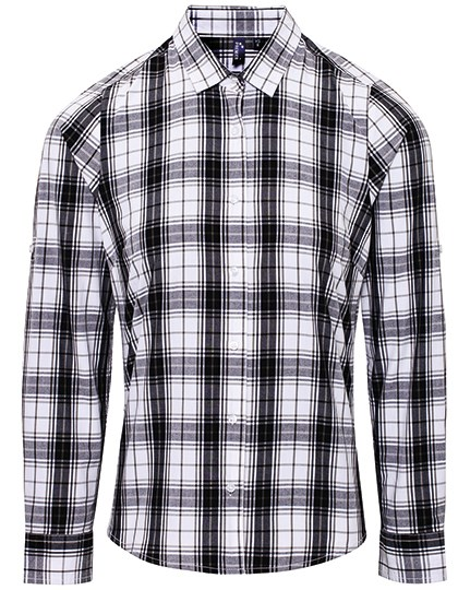 Premier Workwear - Ginmill Check Womens Long Sleeve Cotton Shirt