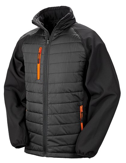 Result - Black Compass Padded Soft Shell Jacket