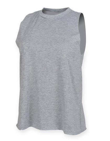 SF Women - Women`s High Neck Slash Armhole Vest