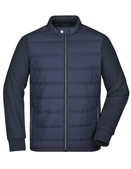 James+Nicholson - Men's Hybrid Sweat Jacket