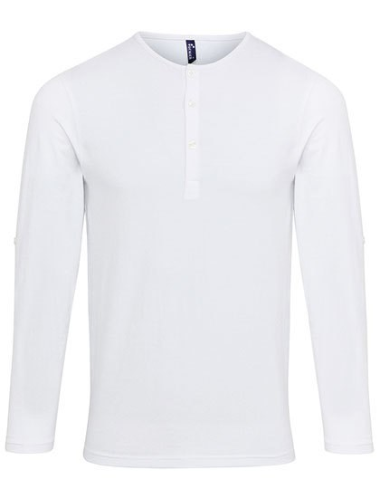 Premier Workwear - Mens Long-John Roll Sleeve Tee