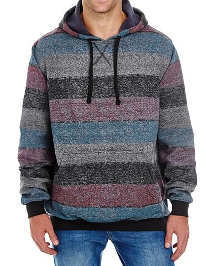Burnside - Printed Striped Marl Pullover