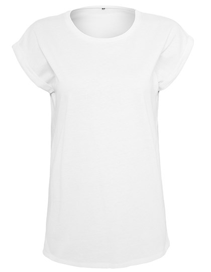 Build Your Brand - Ladies Organic Extended Shoulder Tee