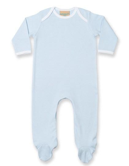 Larkwood - Contrast Long Sleeved Sleepsuit