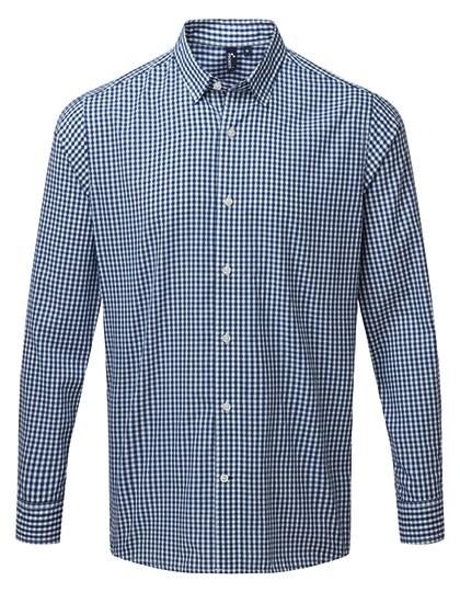 Premier Workwear - Maxton Check Mens Long Sleeve Shirt