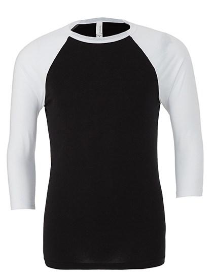 Canvas - Unisex 3 / 4 Sleeve Baseball T-Shirt