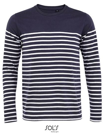 SOL´S - Men´s Long Sleeve Striped T-Shirt Matelot