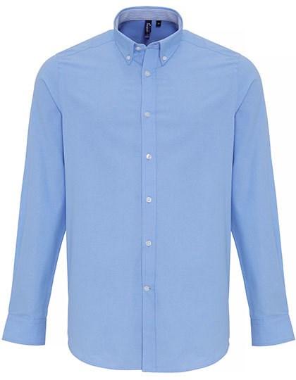 Premier Workwear - Mens Cotton Rich Oxford Stripes Shirt