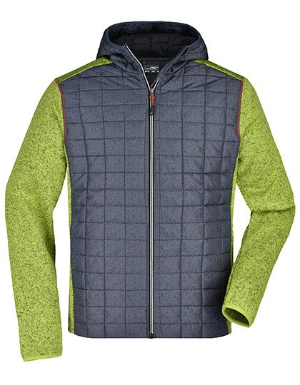 James+Nicholson - Men's Knitted Hybrid Jacket