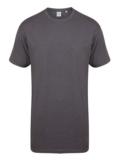 SF Men - Men`s Longline T-Shirt With Dipped Hem