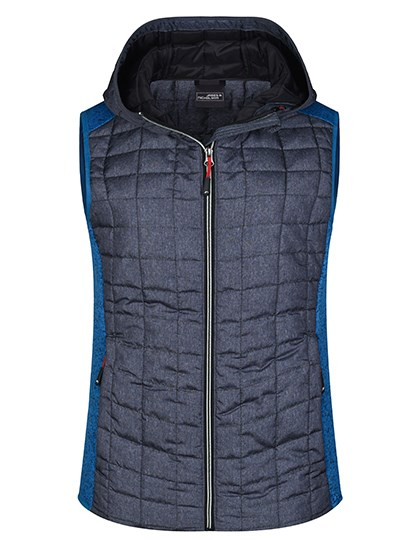 James+Nicholson - Ladies' Knitted Hybrid Vest