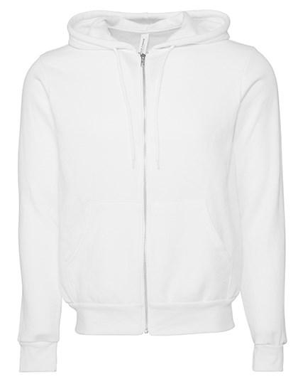 Canvas - Unisex Zip-Up Poly-Cotton Fleece Hoodie
