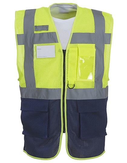 YOKO - Hi Vis Top Cool Recycled Open Mesh Executive Waistcoat