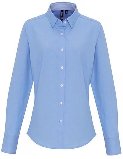 Premier Workwear - Ladies Cotton Rich Oxford Stripes Shirt
