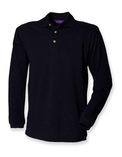 Henbury - Long Sleeved Cotton Piqué Polo Shirt