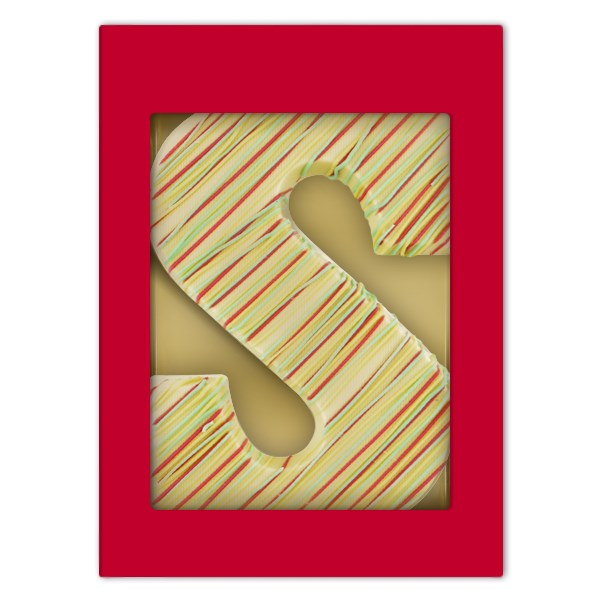 Luxe witte chocoladeletter S Color Fun