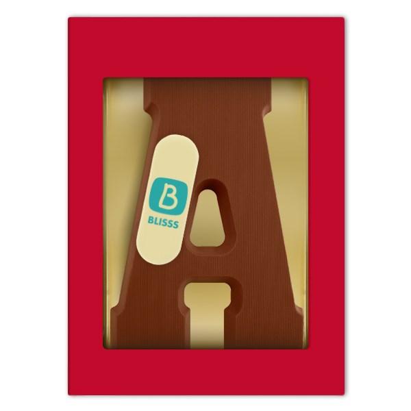 Chocoladeletter extra large met logoschildje