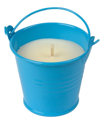 Candle in bucket