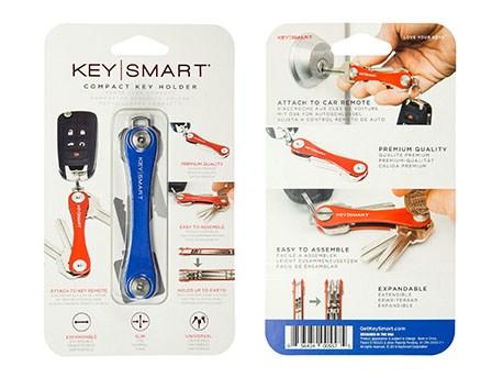 KeySmart Compact Keyholder Blue Clam