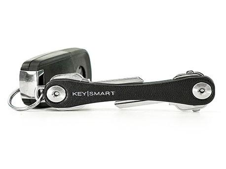KeySmart Compact Keyholder Leather Black