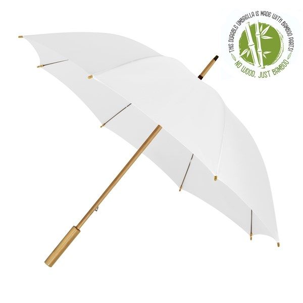 ECO by IMPLIVA, bamboe, windproof, Ø102 cm, wit