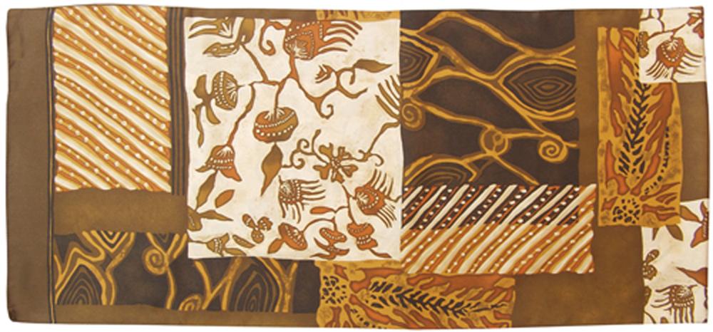 Palma - dames sjaal, roestkleurig
