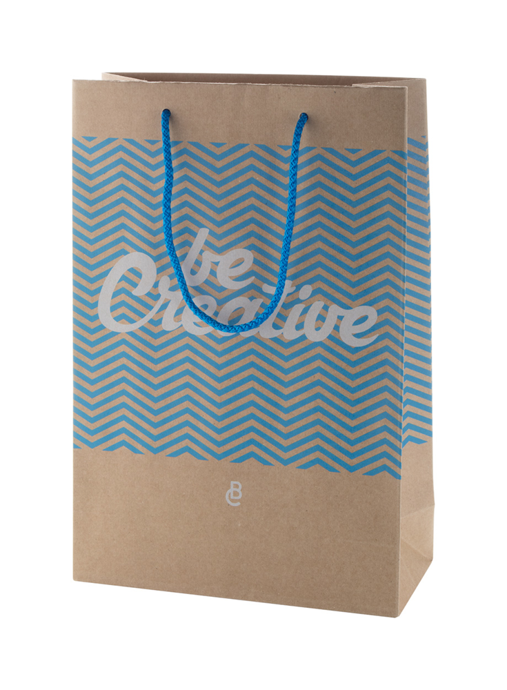 CreaShop M - custom made, papieren winkeltas. medium.