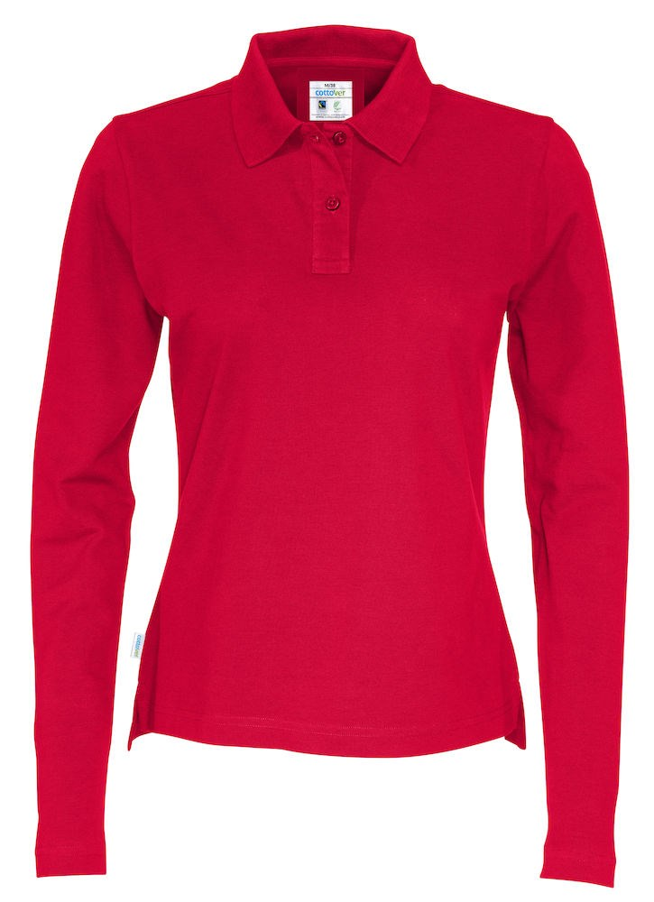 PIQUE LONG SLEEVE LADY RED S