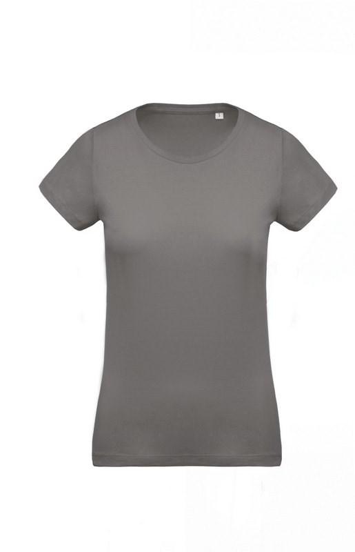 Kariban Dames-t-shirt BIO-katoen ronde hals