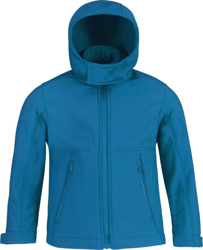 B&C Kids' hooded softshell jacket