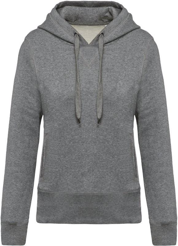 Kariban Damessweater met capuchon BIO