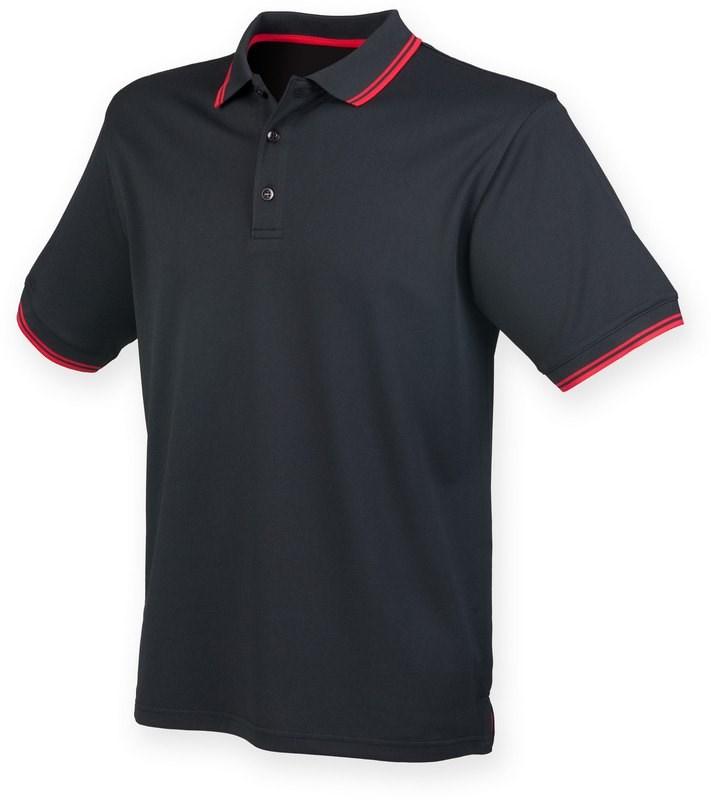 Henbury Men's Coolplus® Tipped Polo Shirt