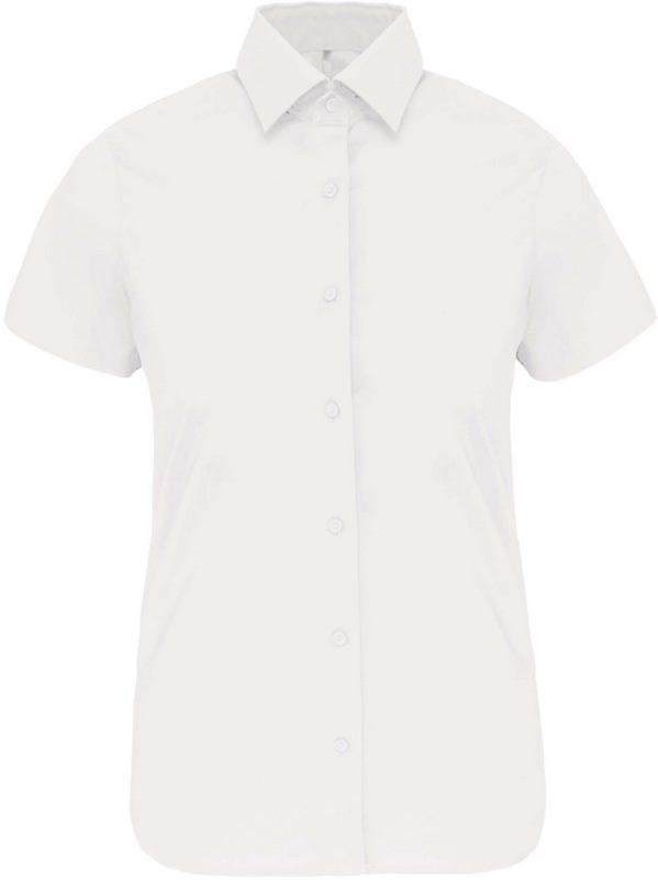 Kariban Dames stretch blouse korte mouwen