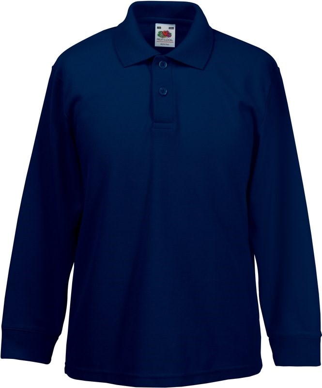 Fruit of the Loom 65/35 Kids' long sleeve polo shirt