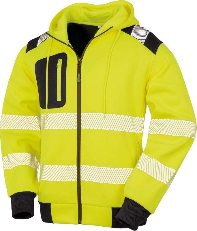 Result Gerecyclede veiligheidssweater met capuchon
