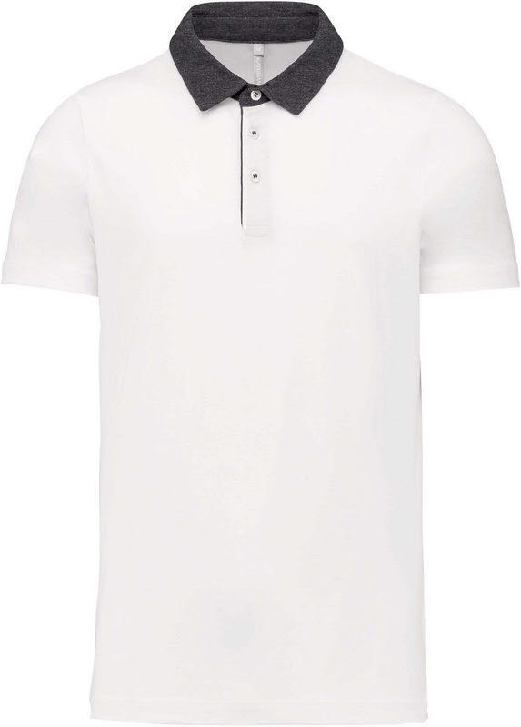 Kariban Tweekleurige herenpolo jersey