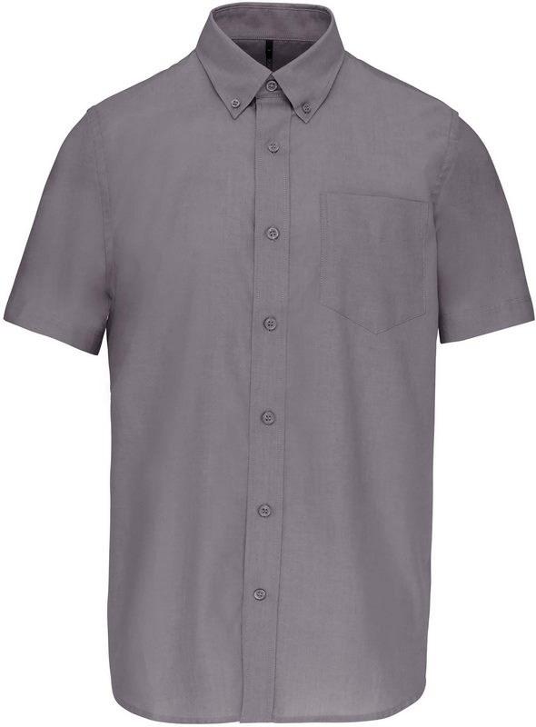 Kariban Heren oxford overhemd korte mouwen